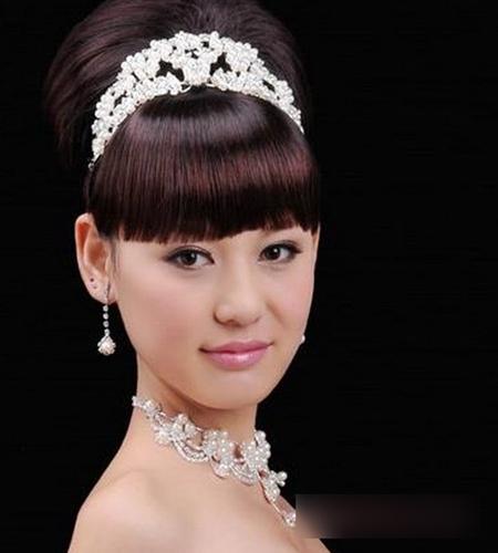 五款齐刘海新娘造型 散发迷人魅力图片