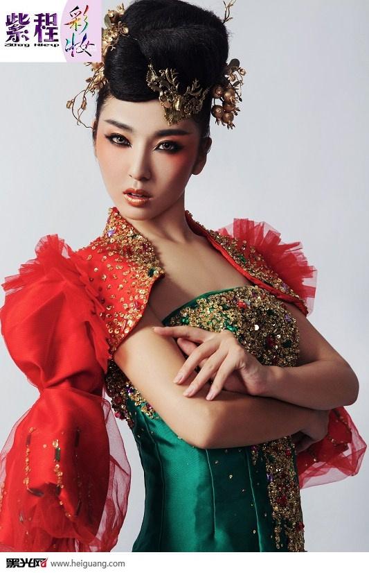 中国风(2)_化妆造型_黑光图库图片