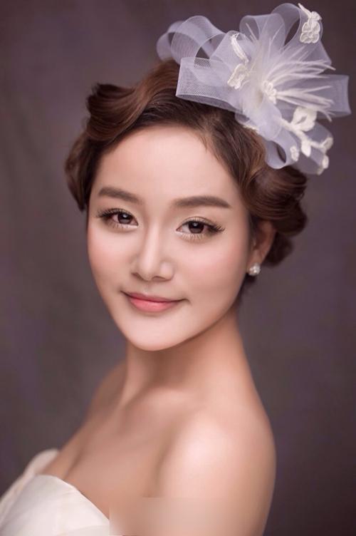新娘造型图片赏析 绽放幸福花蕾_妆面赏析_影楼化妆