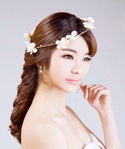 新娘发型图片 绽放优雅的美感