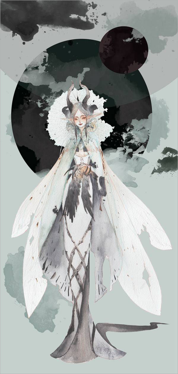 di-orz水彩手绘插画作品设计欣赏