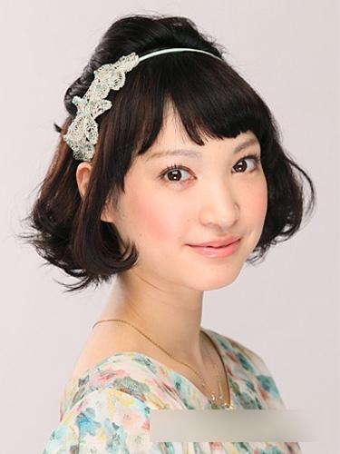 短发新娘造型 尽显日系甜美风