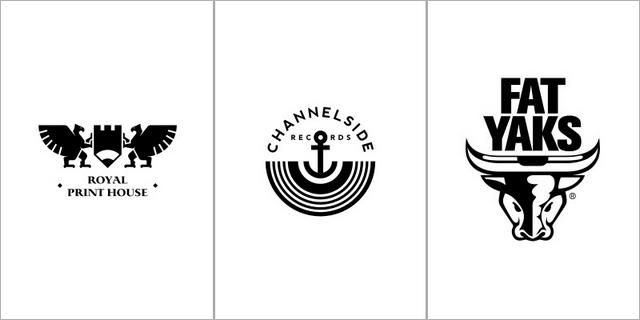极简风格的创意黑白标志设计