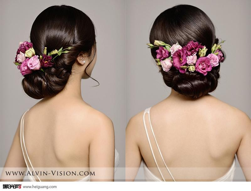 鲜花新娘发型 化妆造型