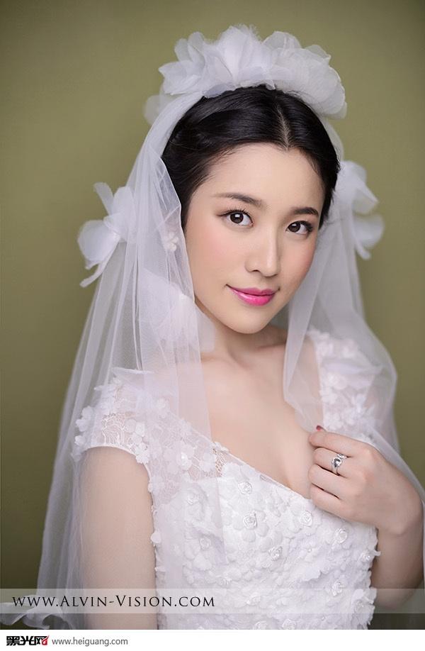 甜美新娘妆 化妆造型图片