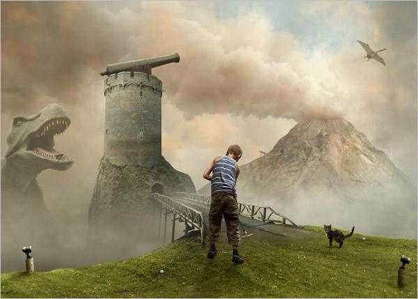 Mattijn Franssen,荷兰摄影师、画家,擅长通过数码图像后期的方式制作奇幻风格的超现实主义人像摄影作品,他也将自己的宠物猫放在画面中作为一个重要的元素。Mattijn的摄影作品风格与我们曾经为大家介绍过的摄影师Caras Ionut类似,都是通过图像拼接的方式,将一些散落在各个照片中的元素结合起来,创造出一个超现实主义的奇幻世界。