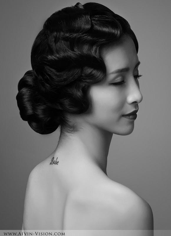 复古新娘造型 演绎黑白间的浪漫感动图片