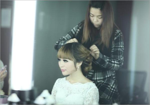 新娘发型步骤过程