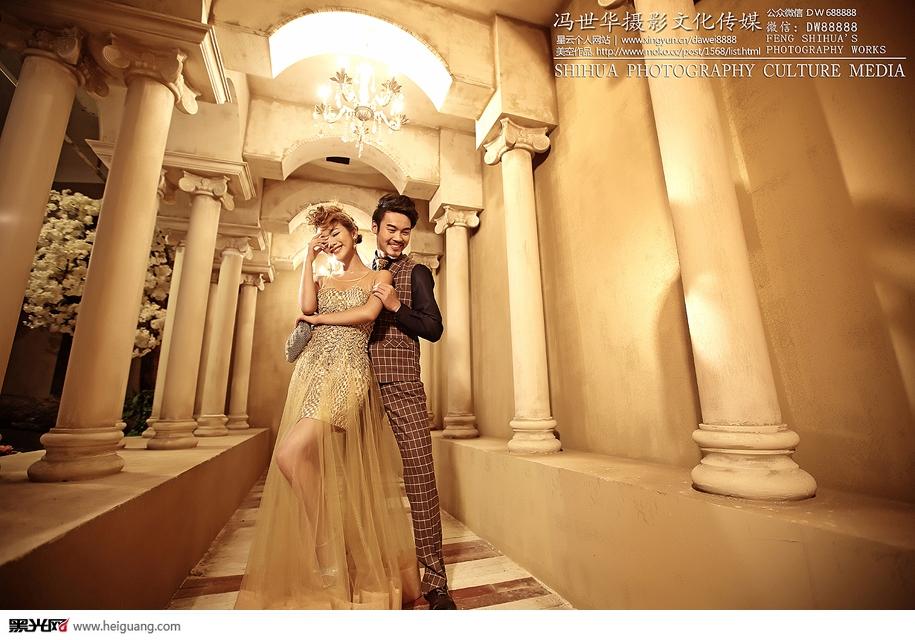 罗马柱 婚纱照