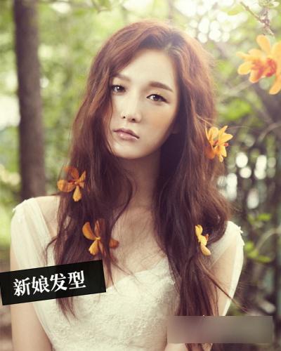 韩式新娘发型欣赏 期待花开浪漫