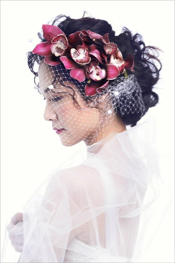 新娘鲜花造型欣赏 简单干净纯粹图片