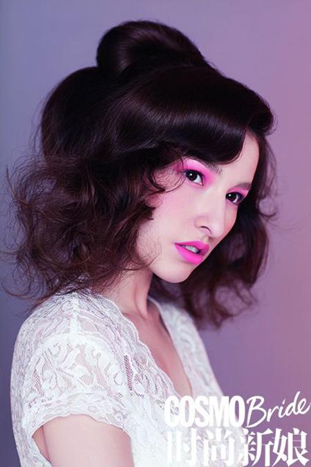 """2014新娘发型潮流趋势 甜蜜从""""头""""开始"""