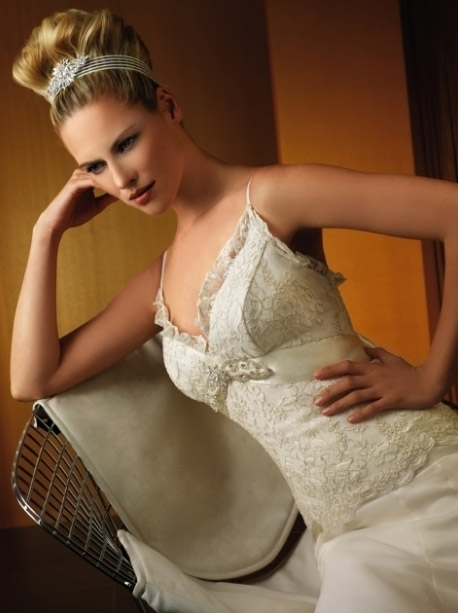 欧式复古优雅婚纱