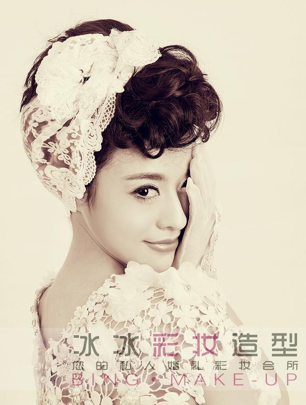 甜美可爱新娘妆造型图片