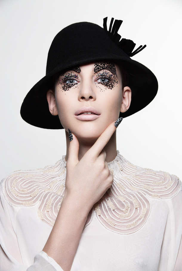 彩妆手绘人脸基础图