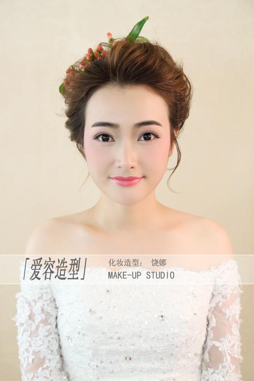 森系新娘盘发造型