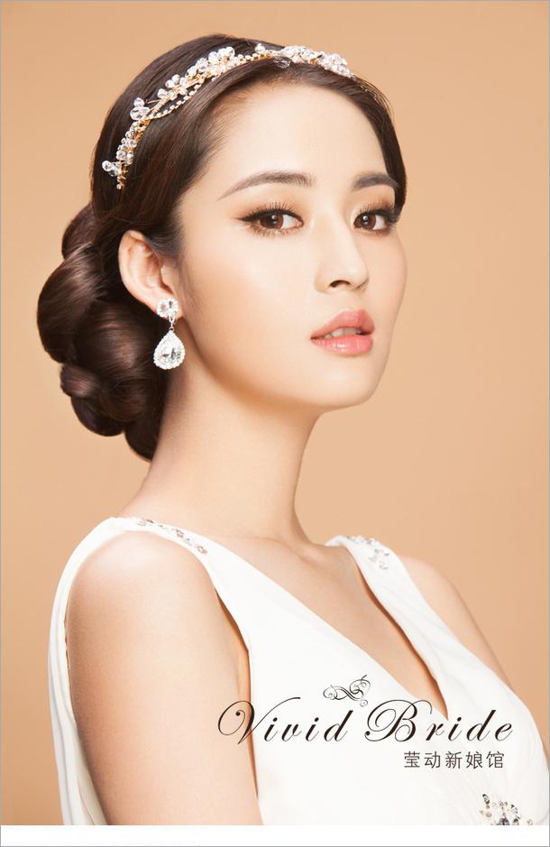 时尚新娘发型(2)_化妆造型_黑光图库_黑光网