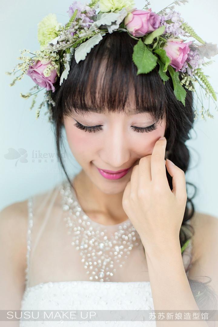 黑光网欧式新娘发型图片