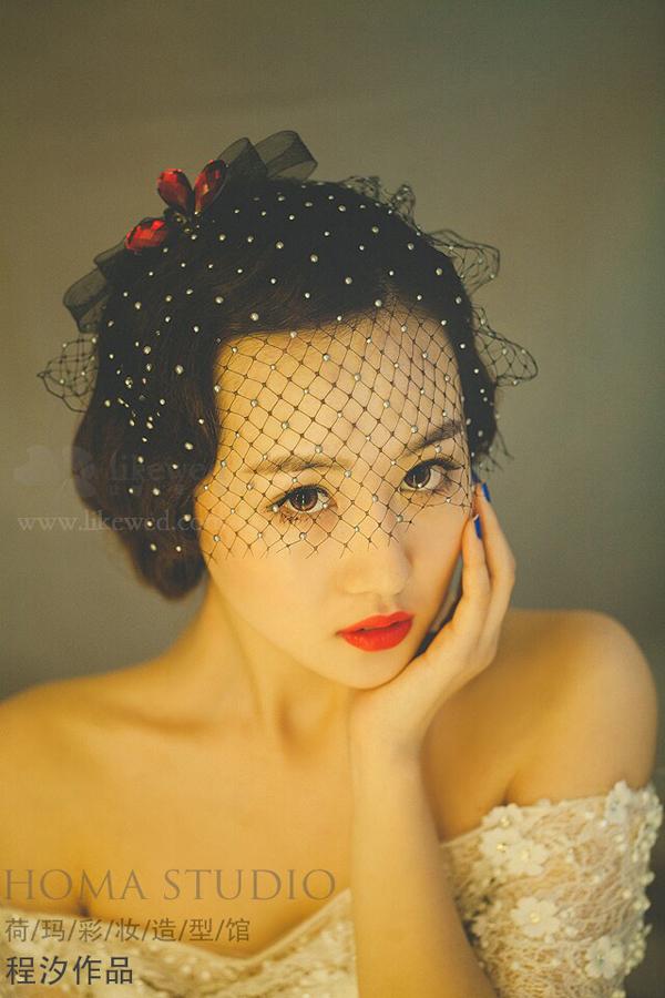 浪漫韩式新娘妆(2)_化妆造型_黑光图库_黑光网