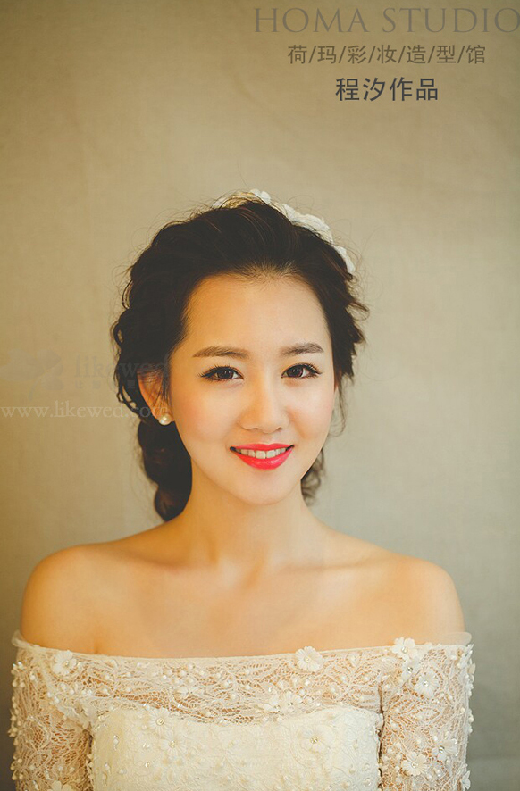 浪漫韩式新娘妆(6)_化妆造型_黑光图库_黑光网
