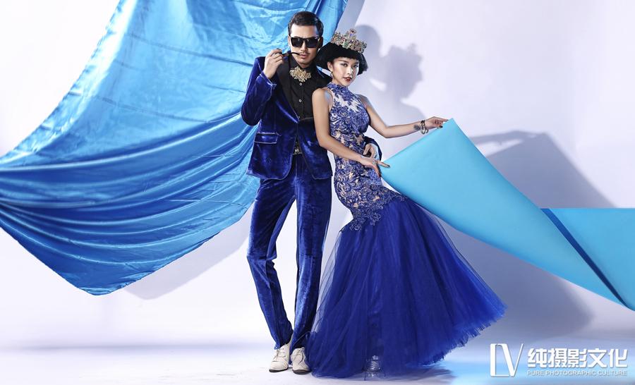 蓝色之恋 婚纱照