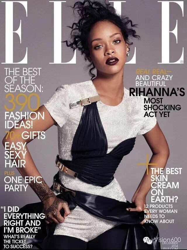 最新影楼资讯新闻-Rihanna性感无邪时尚写真登上美版《ELLE》