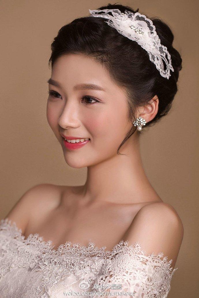 甜美可爱新娘妆化妆造型