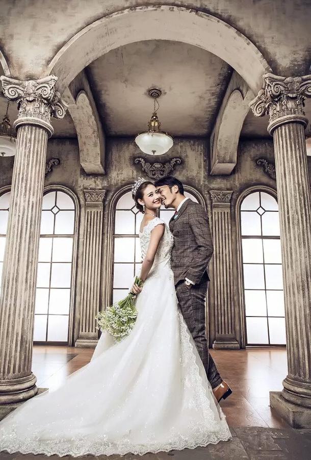 欧式经典 婚纱照图片