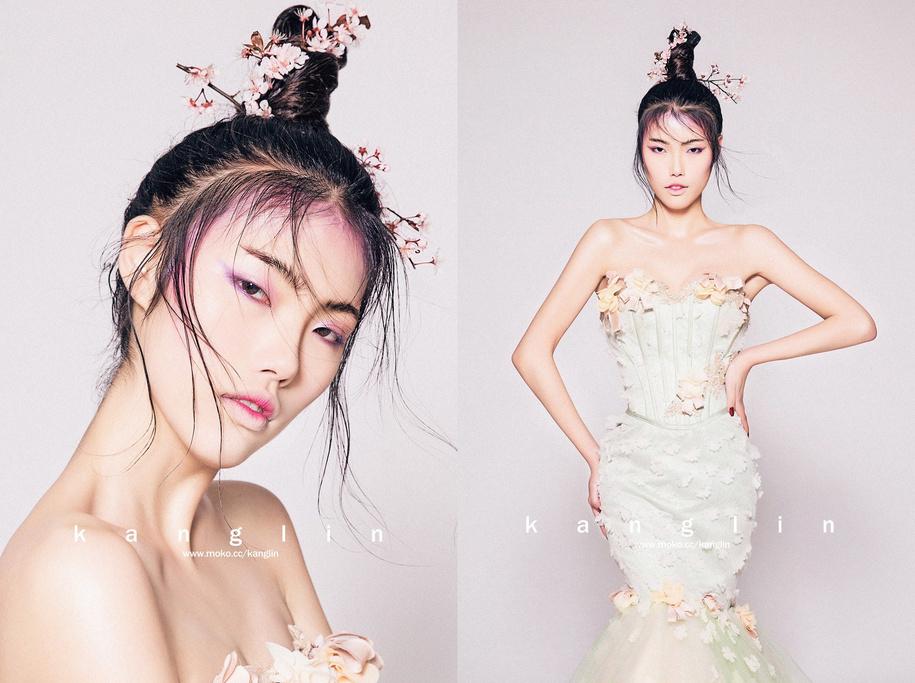 中国风(全)_化妆造型_黑光图库图片