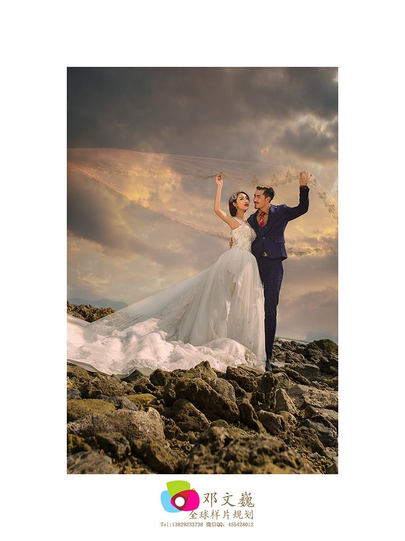 礁石 婚纱照