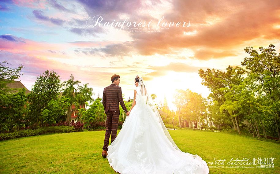 雨林恋人 婚纱照图片