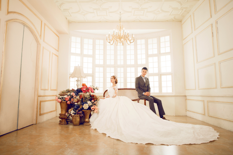 皇室新娘 婚纱照
