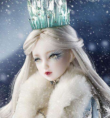 雪之女王 插画图片