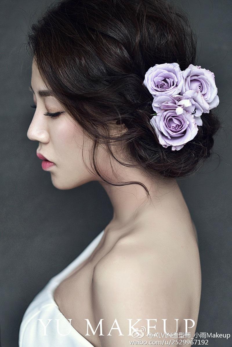 浪漫新娘鲜花造型