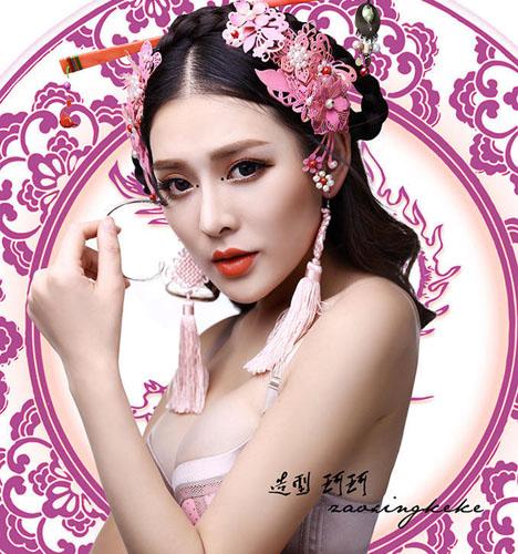 中国风 化妆造型图片