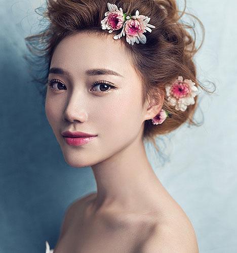 清新夏日新娘造型 化妆造型图片