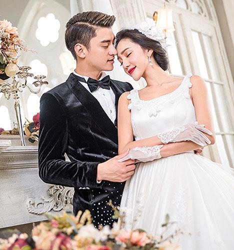 欧式白纱 婚纱照