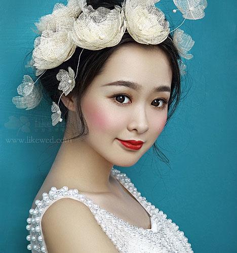 手工新娘头饰发型 化妆造型图片