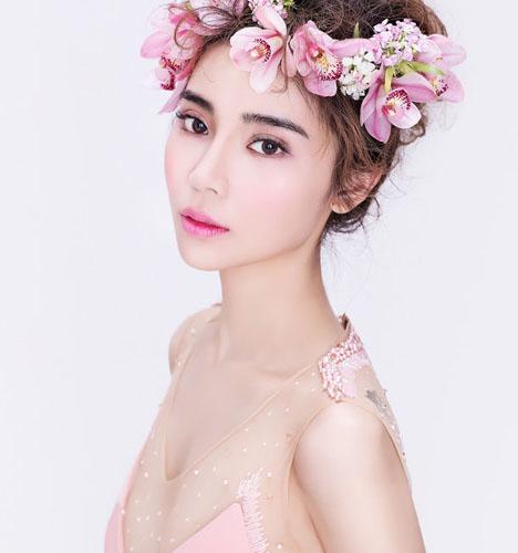 鲜花新娘造型-创意妆容图片