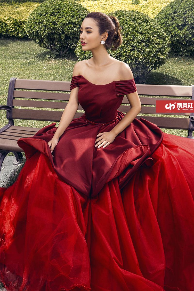 红色之恋 婚纱照
