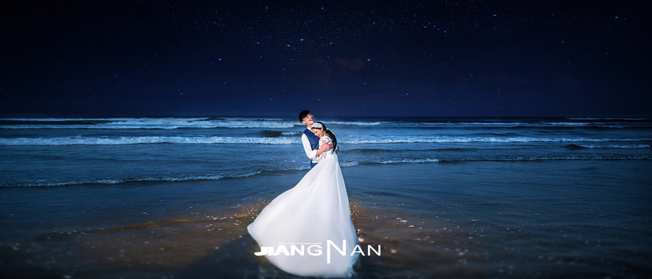海之夜 婚纱照