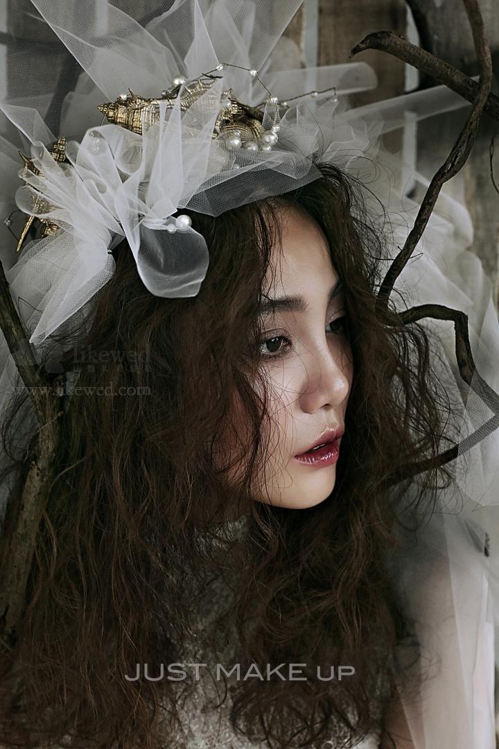 海洋风新娘 化妆造型图片