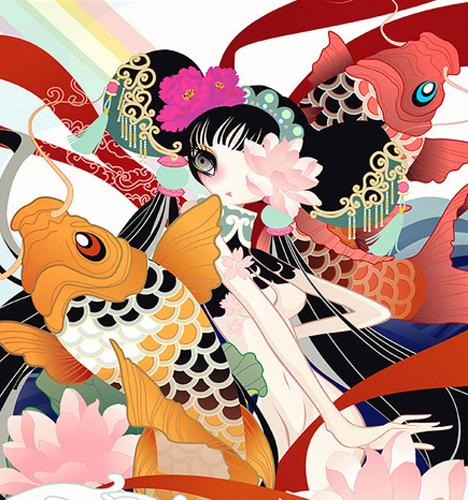 中国娘 插画图片