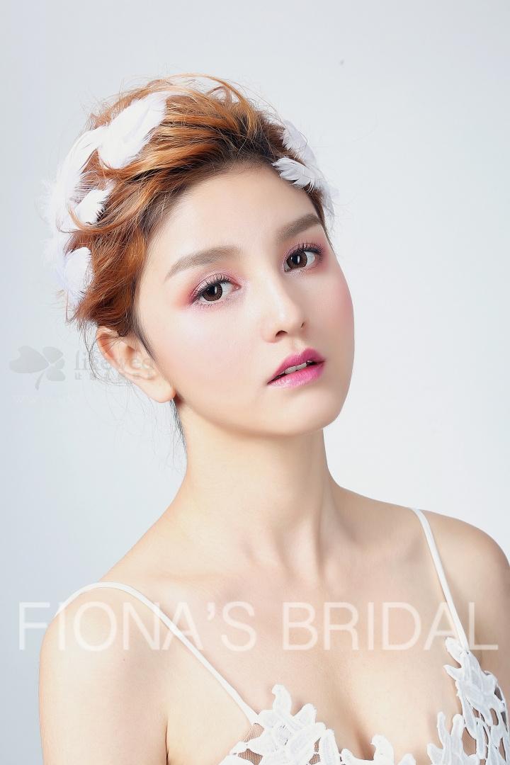 鲜花新娘造型图片