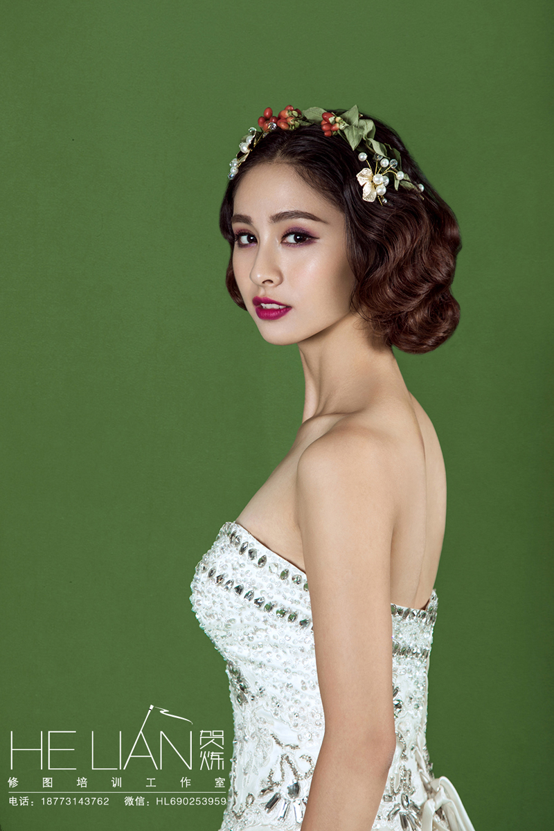 婚纱妆面造型