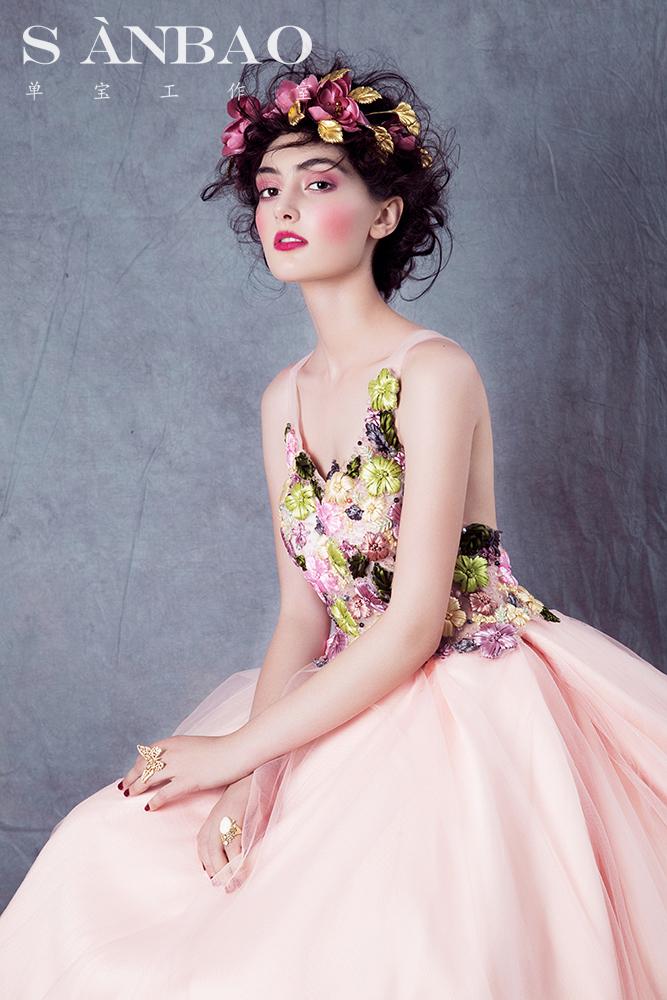 巴洛克皇冠新娘大片 化妆造型