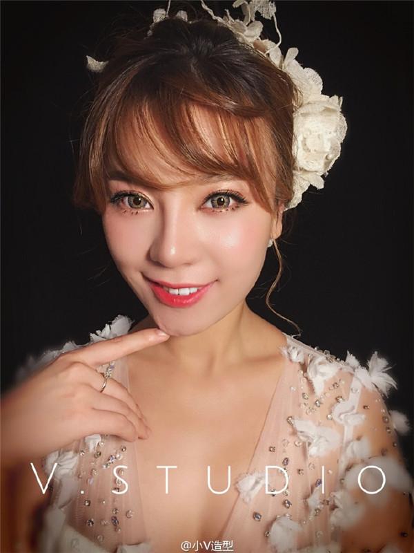 甜美的日系新娘造型_妆面赏析_影楼化妆_黑光网