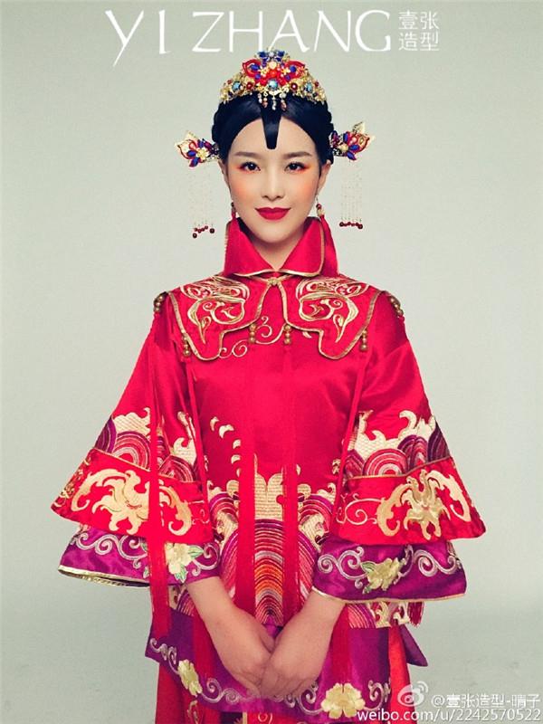 中式新娘造型欣赏图片