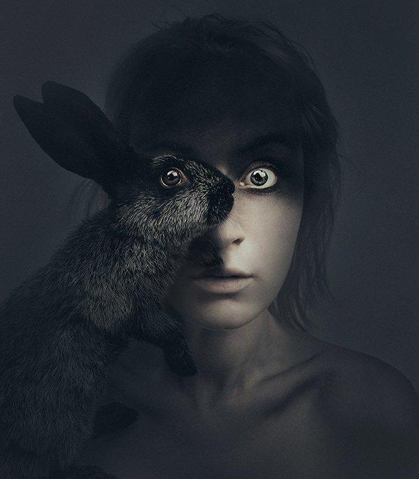 摄影师自拍 与动物共享一只眼睛