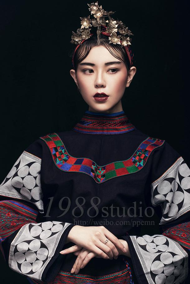 民族风 化妆造型图片